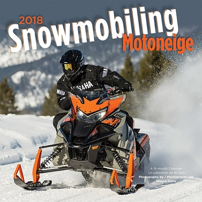 Snowmobiling 2018 12 x 12 Inch Monthly Square Wall Calendar by Wyman
