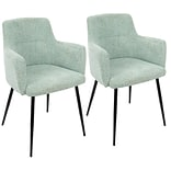 LumiSource Andrew Contemporary Dining / Accent Chair in Light Green Fabric (CH-ANDRW BKLGN2)