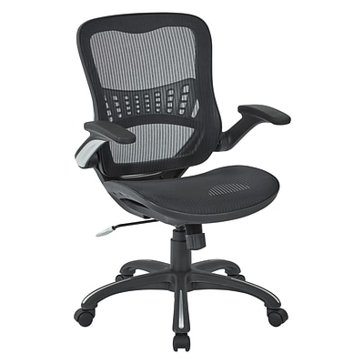 Office Star Work Smart Black Mesh Seat and Back Managers Chair (69906-3)