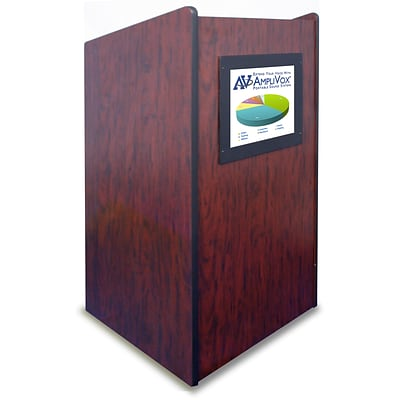 Amplivox 47H Visionary Lectern with Built-in LCD Screen, Mahogany Finish (SN3265-MH)