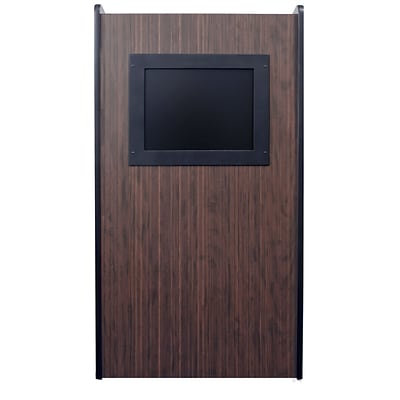 Amplivox 47H Visionary Lectern with Built-in LCD Screen, Walnut Finish (SN3265-WT)