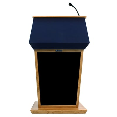 Amplivox 56H Patriot Plus Adjustable Height Lectern with Sound System, Oak Finish (SS3045A-OK)