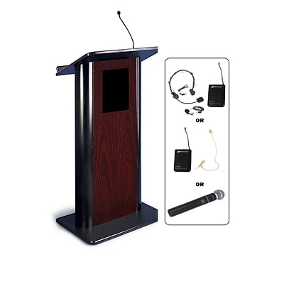 Amplivox 49H Contemporary Flat Panel Lectern with Wireless Sound (SW3090)