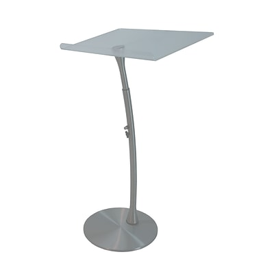 Amplivox 50H x 28 Wide, Anti-Reflective Reading Surface, Adjustable Height Acrylic Steel Lectern (SN3200)