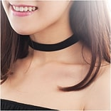 Zodaca Womens Fashion Adjustable Gothic Soft-touch Velvet Choker Necklace Jewelry - Black (2309977)