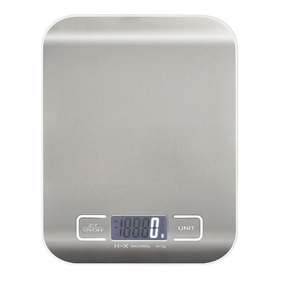 Insten New Silver 5Kg x 1g Digital Kitchen Scale Diet Food Compact Kitchen Scale With LCD Display