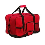 Natico Red Polyester Travel Duffel Bag (60-DB-01RD)