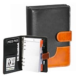 Natico Black and Brown Faux Leather Agenda, 7.5H  x 5.25W (60-PF-23)