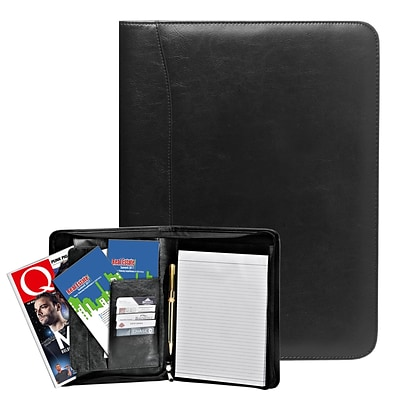 Natico Brown Faux Leather Portfolio 13H x 9.75W (60-PF-55BR)