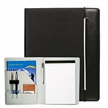 Natico Black Faux Leather Portfolio 12.75H x 10W (60-PF-72)