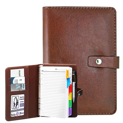 Natico Brown Faux Leather Agenda 7.5H x 5W (60-PF-29BR)