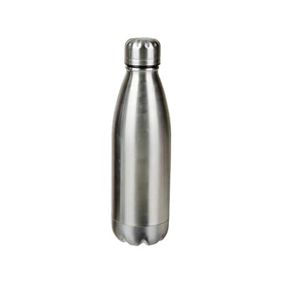 Natico Silver Stainless Steel Water Bottle, 17 oz. (60-160-SL)