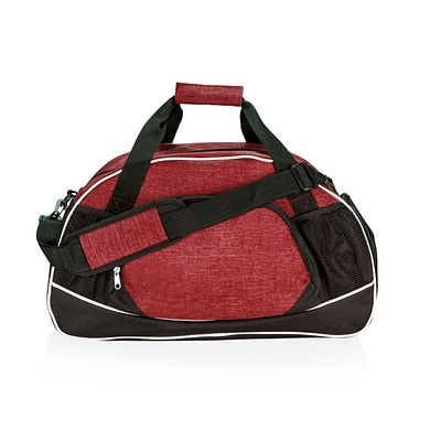 Natico Burgundy and Black Polyester All Sport Duffel Bag (60-DB-18BU)