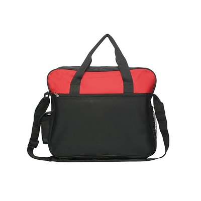 Natico Red Polyester Messenger Bag, Oversized (60-MB-24RD)