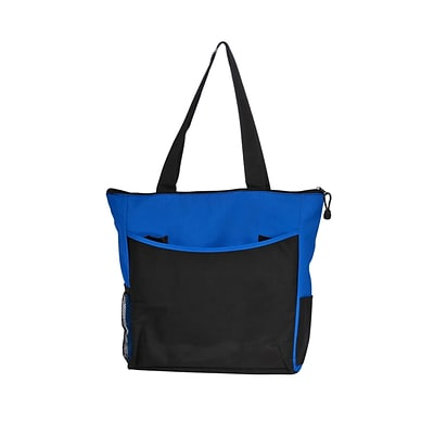 Natico Blue and Black Polyester Carry All Tote (60-TT-07BL)