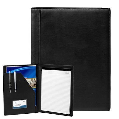 "Natico Black Faux Leather Portfolio 13""H x 9.75""W (60-PF-31)"