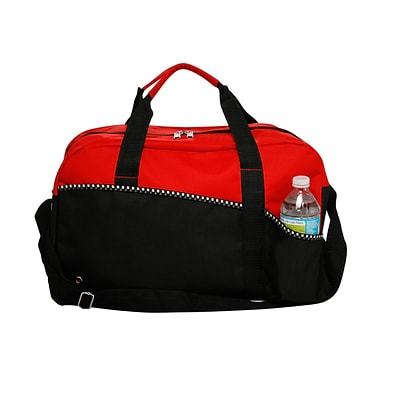 Natico Red and Black Polyester Carry All Duffel Bag (60-DB-15RD)