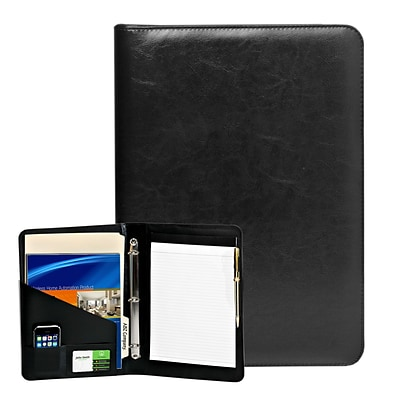 Natico Black Faux Leather Ringbinder Portfolio 14H x 10W (60-PF-41)