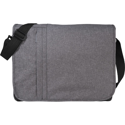 Natico Grey Polyester Canvas Messenger Bag (60-7378)