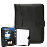Natico Black Faux Leather Portfolio 13H x 9.75W (60-PF-54)