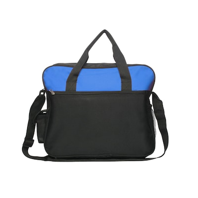 Natico Blue Polyester Messenger Bag, Oversized (60-MB-24BL)