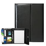 Natico Black Faux Leather Portfolio 13.25H x 9.75W (60-PF-44)
