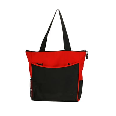 Natico Red and Black Polyester Carry All Tote (60-TT-07RD)
