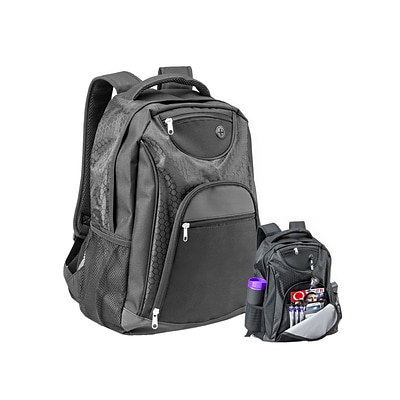 Natico Black Polyester Transit Backpack (60-BP-67BK)