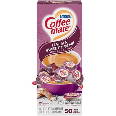 Coffee mate Italian Sweet Creme Liquid Creamer, 0.38 Oz., 50/Box (NES84652)