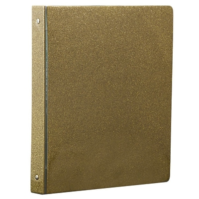 JAM Paper® Fashion 3 Ring Binder, 1 Inch, Gold Glitter, Sold Individually (373933553b)