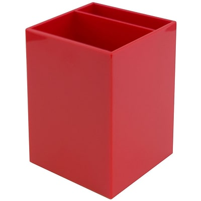 JAM Paper® Plastic Pen Holder, Red, Sold Individually (341re)
