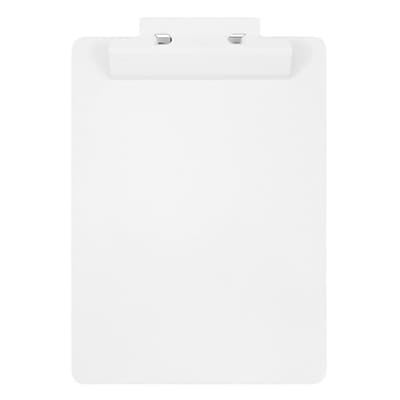 JAM Paper® Aluminum Premium Clipboards, White Clipboard w/ Hinge, Sold Individually (340933568)
