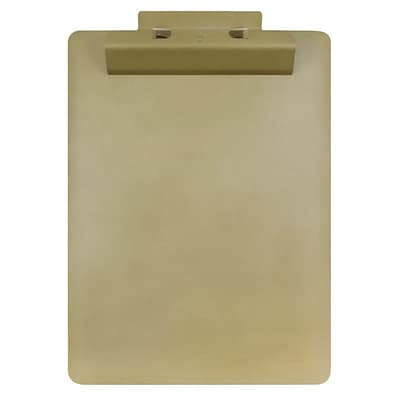 JAM Paper® Aluminum Premium Clipboards, Gold Clipboard w/ Hinge, Sold Individually (340933562)