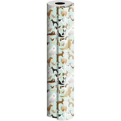 JAM Paper® Industrial Size Wrapping Paper Rolls, Best in Show, 1/4 Ream (416 Sq. Ft), Sold Individually (165J17124208)