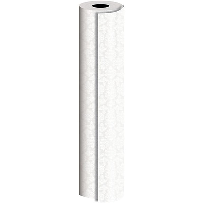 JAM Paper® Industrial Size Wrapping Paper Rolls, Pearl Damask, Full Ream (1666 Sq. Ft), Sold Individually (165J19524833)