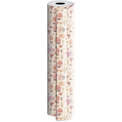 JAM Paper® Industrial Size Wrapping Paper Rolls, Coral Reef, 1/4 Ream (520 Sq. Ft), Sold Individually (165J17530208)