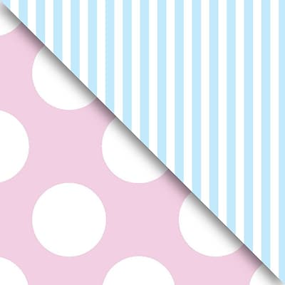 JAM Paper® Industrial Size Wrapping Paper Rolls, Pastel Pink & Blue, 1/4 Ream (520 Sq. Ft), Sold Individually (165J98530208)