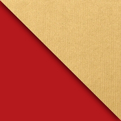 JAM Paper® Industrial Size Wrapping Paper Rolls, Kraft Red & Gold, 1/4 Ream (416 Sq. Ft), Sold Individually (165J99324208)