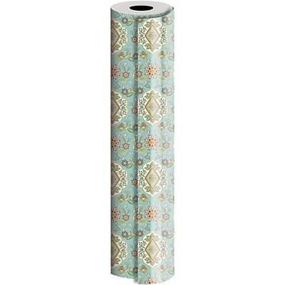 JAM Paper® Industrial Size Wrapping Paper Rolls, Tapestry, 1/4 Ream (520 Sq. Ft), Sold Individually (165J13330208)