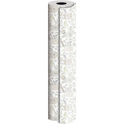JAM Paper® Industrial Size Wrapping Paper Rolls, Love Birds, 1/4 Ream (416 Sq. Ft), Sold Individually (165J14424208)