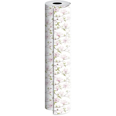 JAM Paper® Industrial Size Wrapping Paper Rolls, Magnolia, 1/4 Ream (416 Sq. Ft), Sold Individually (165J15924208)