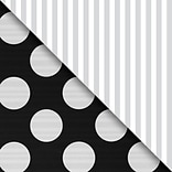JAM Paper® Industrial Size Wrapping Paper Rolls, Black & Silver, 1/2 Ream (1042.5 Sq. Ft), Sold Indi