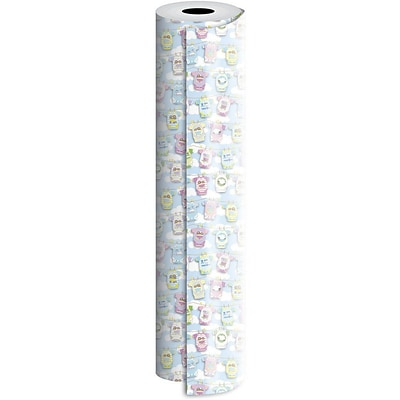 JAM Paper® Industrial Size Wrapping Paper Rolls, Onesies Twosies, 1/2 Ream (834 Sq. Ft), Sold Individually (165J31824417)