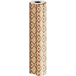 JAM Paper® Industrial Size Wrapping Paper Rolls, Bohemian Diamond, 1/2 Ream (834 Sq. Ft), Sold Indiv