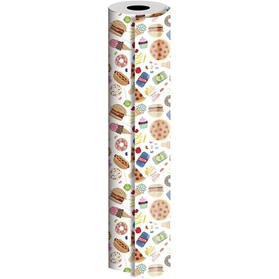 JAM Paper® Industrial Size Wrapping Paper Rolls, Junk Food, 1/4 Ream (416 Sq. Ft), Sold Individually (165J20124208)