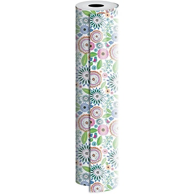 JAM Paper® Industrial Size Wrapping Paper Rolls, Pretty Petunia, 1/4 Ream (416 Sq. Ft), Sold Individually (165J38024208)