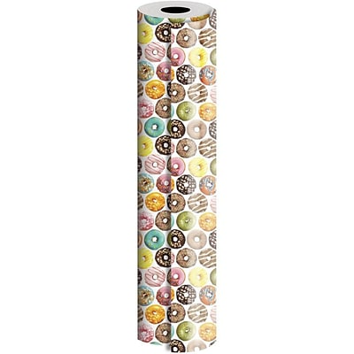 JAM Paper® Industrial Size Wrapping Paper Rolls, Donuts, 1/4 Ream (520 Sq. Ft), Sold Individually (165J21930208)