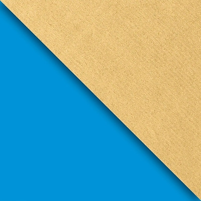 JAM Paper Industrial Size Wrapping Paper Rolls, Blue & Gold Kraft, 1/2 Ream (1042.5 Sq. Ft), Each (165J98230417)