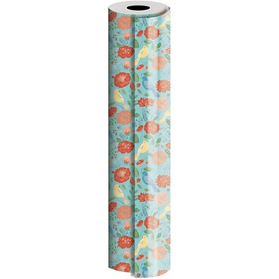JAM Paper® Industrial Size Wrapping Paper Rolls, Dahlia, 1/4 Ream (520 Sq. Ft), Sold Individually (165J12630208)
