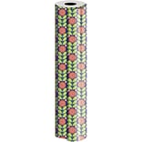 JAM Paper® Industrial Size Wrapping Paper Rolls, Full Bloom, 1/4 Ream (520 Sq. Ft), Sold Individuall